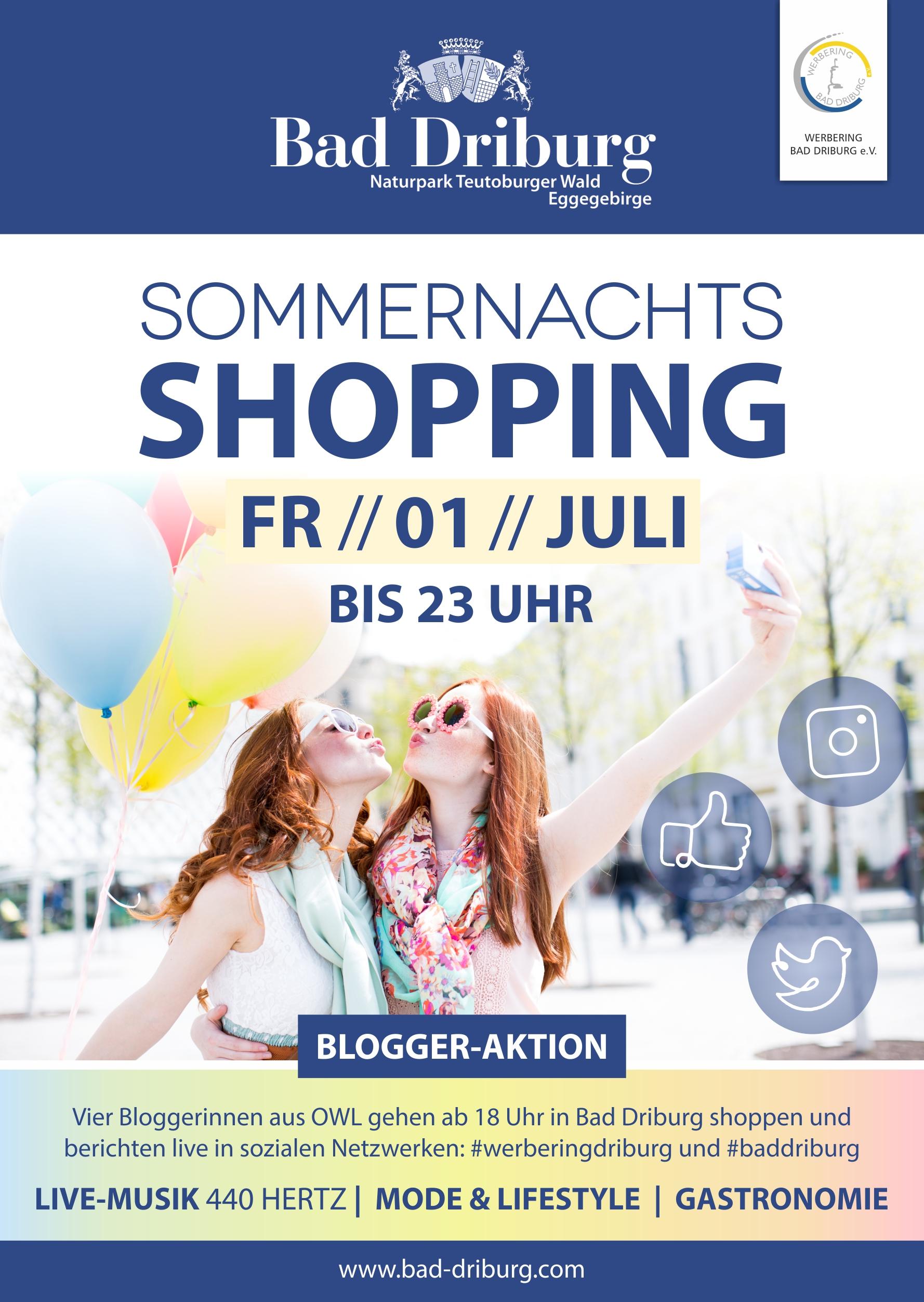 Plakat-Sommernachtsshopping